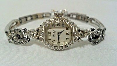 Vintage Women's GRUEN PRECISION 14K SOLID GOLD & DIAMONDS  WRIST WATCH