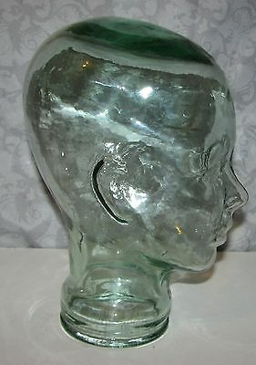 Clear Glass Mannequin Heads - Wig, Headphone, Face Mask, Hat Display