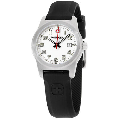 Wenger Field Classic White Dial Silicone Strap Ladies Watch 010411108