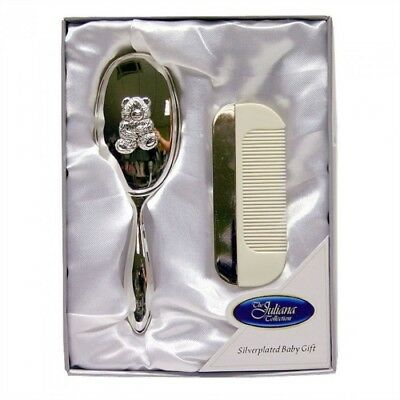 New Silver Baby Brush and Comb Set