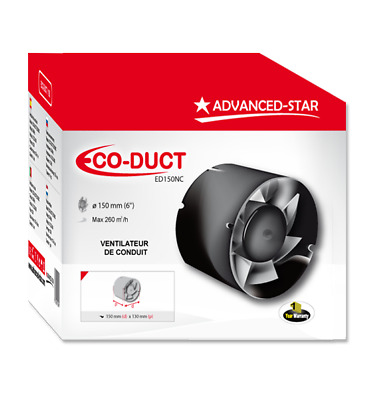 Advanced Star Eco Duct Fan 6 (150mm) Inch Intake / Extraction Hydroponics