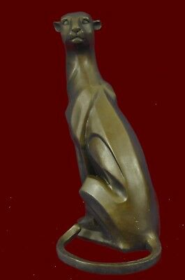 Modern Art Extra Large Mountain Lion By Henry Moore Figurine Bronze Sculpture St