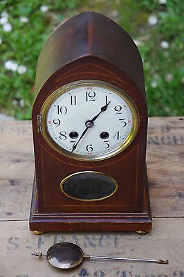 Antique clock vintage years 1950 email weight brass