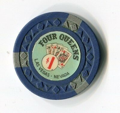 "+++++++++++  $$$ OLD 1960s FOUR QUEENS  $1 VEGAS  "" Arodie Mold  "" DOWNTOWN CHIP"