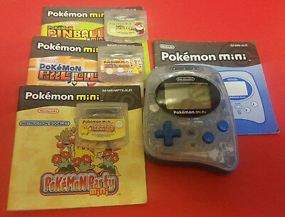 Pokemon Mini Console Whooper with games