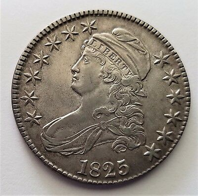 1825 50C Capped Bust Half Dollar