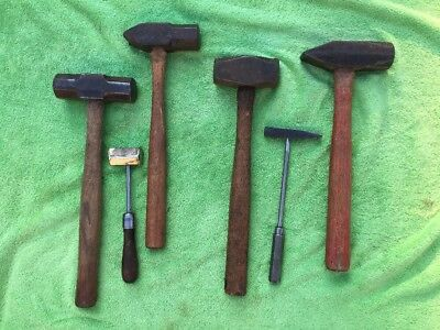 Lot of 6 Blacksmith Hammers/Metal Working