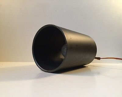 Vtg Philips Minimalist Black flush mount Sconce modernist Louis Poulsen AJ PH ea