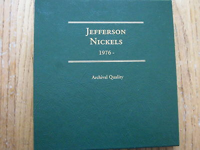 BEAUTIFUL 1976 - 2008 Jeffeson Nickel Collection Album w/ PROOFS Nickels Nickels