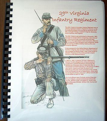 Civil War History of the 29th Virginia Infantry Regiment