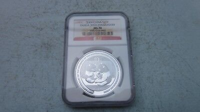 2009-S10Y China Panda NGC MS70 30th Anniversary-CERT-3322938-069