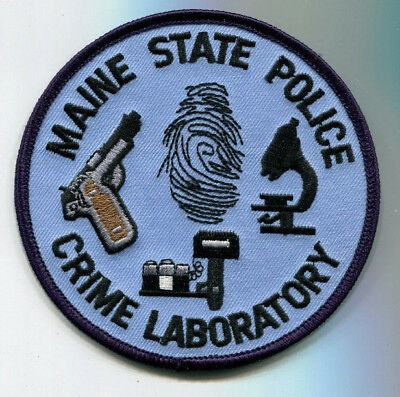 Maine State Police Crime Laboratory Patch - CSI // FREE US SHIPPING!