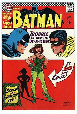 Batman #181 Vol 1 Near Perfect High Grade 1st App Poison Ivy Complete W/ Pin-Up