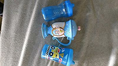 kids 3pc cup and sippy cup set. nuk and disney brand. used