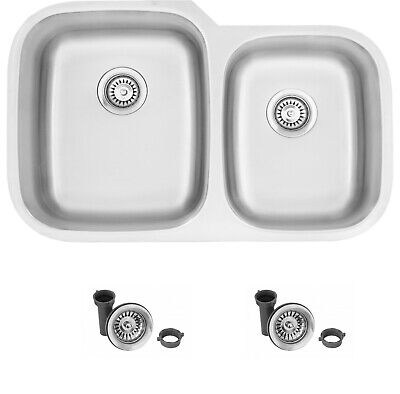 60/40 Double Bowl Stainless Steel Sink S-201