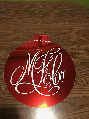 """Marshall Field's & Co. Big Red Ornament Store Fixture RARE!! 16"""""""
