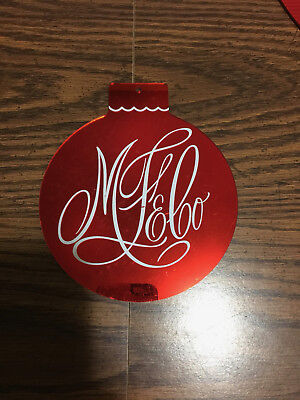 """Marshall Field's & Co. Big Red Ornament Store Fixture RARE!! 6"""""""