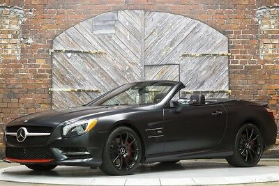 2016 Mercedes-Benz SL-Class SL550 Mille Miglia 417 Edition 16 SL 550 Convertible Factory Matte Black Carbon Fiber Panorama Roof 1-Owner