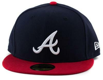 Atlanta Braves New Era MLB Team 59Fifty Hat Genuine Baseball Cap