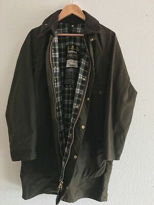 Barbour - A98 Solway Waxed Cotton Outdoor Jacket Chic-Well Used-Made In England