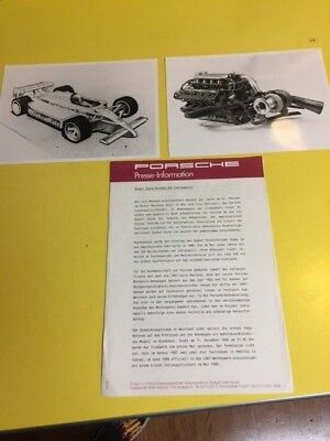 Original PORSCHE Factory Press Kit Press Release,  1987  Quaker State Indy car