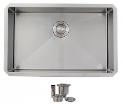 "28"" Single Bowl Stainless Steel Kitchen Sink S-306 - Emerald"
