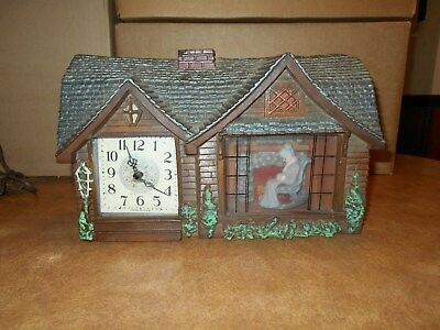 Vintage Haddon 'home Sweet Home' Electric Clock-For Parts/repair