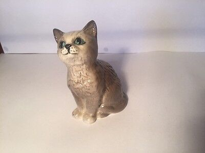Beswick Persian Kitten Seated Mint Cond. with Box Vintage Model K1886 Cat Grey