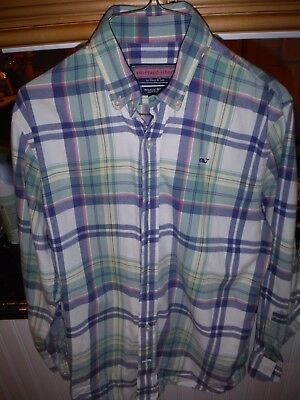 Vineyard Vines Whale Shirt Boys Medium (12-14)
