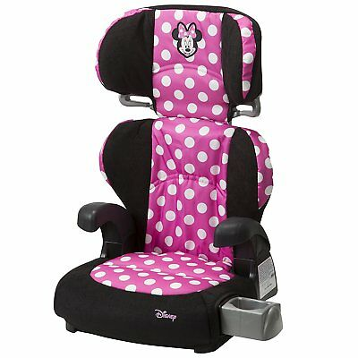 Disney Pronto Minnie Mouse Belt Booster Seat Removable Back Cup Or Snack Holder