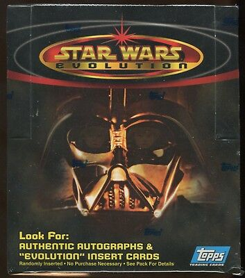 2001 Topps Star Wars Evolution Sealed Box Rare Look For First Time Autographs