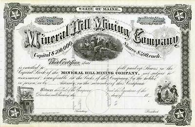 18__ Mineral Hill Mining Co Stock Certificate