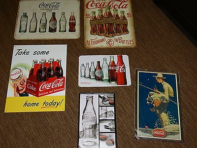 Coca Cola Tin Signs Bundle (New and used but vinatge.) 6 in total!