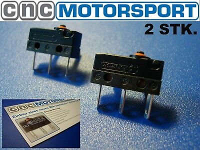 2 X Micro Switch ZV Door Lock Audi A3 A4 A5 Golf 4 microbuttons Micro Switch