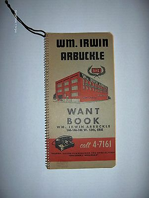 Vintage LEDGER Unused SPIRAL Notebook ADVERTISING Want BOOK Erie PA.Early 1900's
