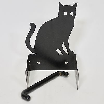Wrought Iron Cat Design Toilet Paper Holder Hand Made #2