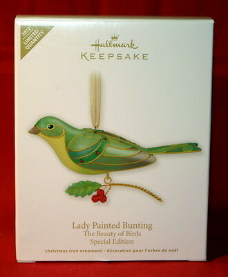 Hallmark Ornament 2012 Lady Painted Bunting Special Edition To Beauty Of Birds