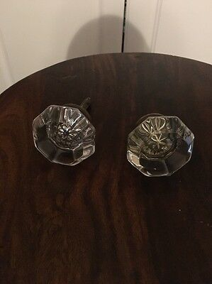 2 Vintage Glass Door Knob