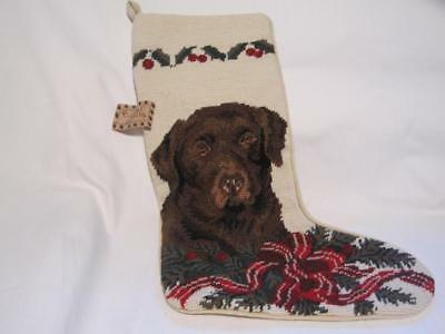 Union Trading Co Claws Collection LABRADOR Dog Needlepoint Christmas Stocking