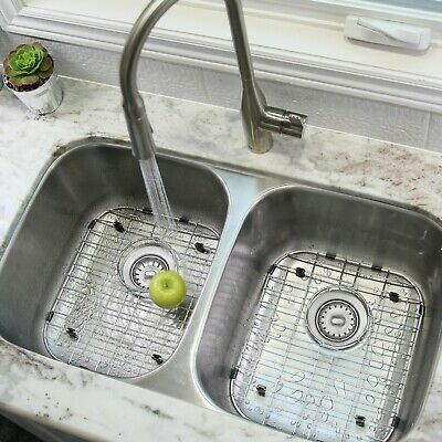 "32"" Double Bowl 18G Undermount Sink, with grids S-200G - Jaspel"