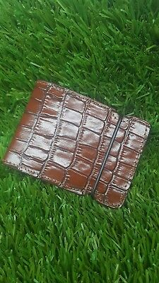 New cash cover wallet,brown crocodile leather embossed hide ,by Franko designs.