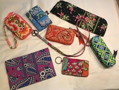 VERA BRADLEY Purse 👛 ACCESSORIES Lot Of 8 Wallet Lanyard Wristlets