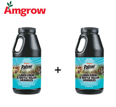 Amgrow Patrol Lawn Grub and Beetle Killer (2x1.5Kg Bottles Included) [82210]