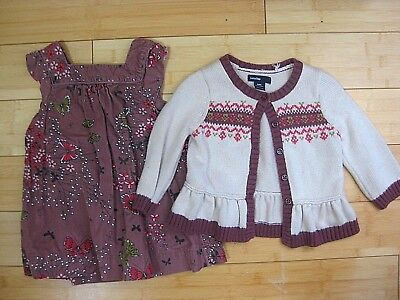 Baby Gap Fall Dress Sweater Outfit Lot Size 6 9 12 Months Infant Girls Winter
