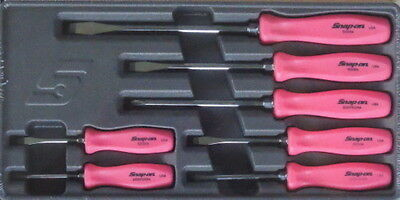 New Snap On 7 Piece Rare Pink Hard Handle Screwdriver Set SDDX70AMP