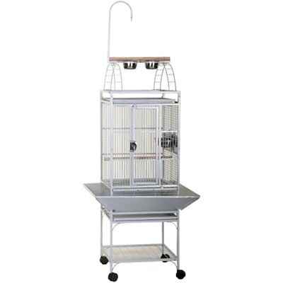 Strong Parrot Cage Villa Large Metal Bird Aviary Helios Silverstone White 93082