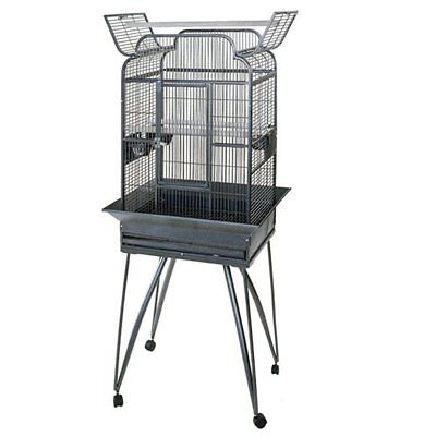 Strong Parrot Cage Villa Large Metal Bird Aviary Andrea Silverstone Grey 93022
