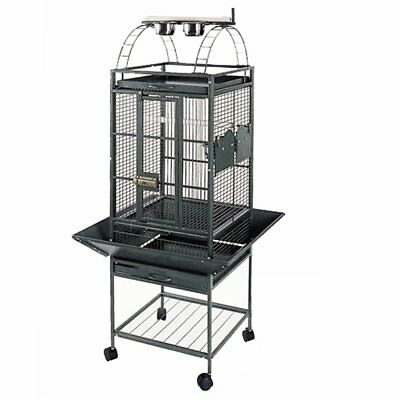 Strong Parrot Cage Villa Large Metal Bird Aviary Helios Silverstone Grey 93016
