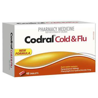Codral Cold & Flu Tablets 48 Adults & children 12 years&over