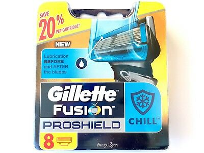 Gillette Fusion PROSHIELD - CHILL Razor Blades 48 [6x8pack] Authentic [BNIB]